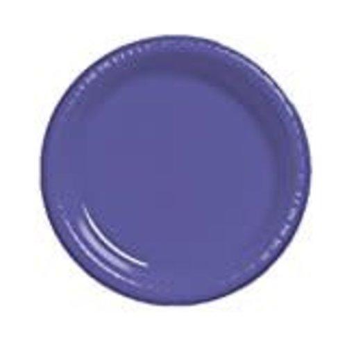 """Purple 10"""" Plastic Banquet Plates 20ct"""
