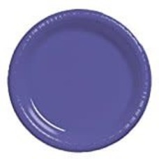 "Purple 7"" Plastic Dessert Plates 20ct"