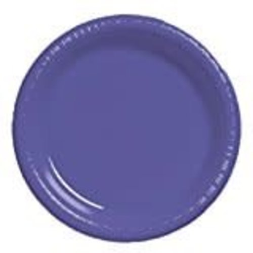"Purple 7"" Plastic Dessert Plates 20ct"