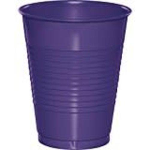 Purple 16oz Plastic Cups 20ct