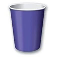 Purple 9oz Hot Cold Cups 24ct