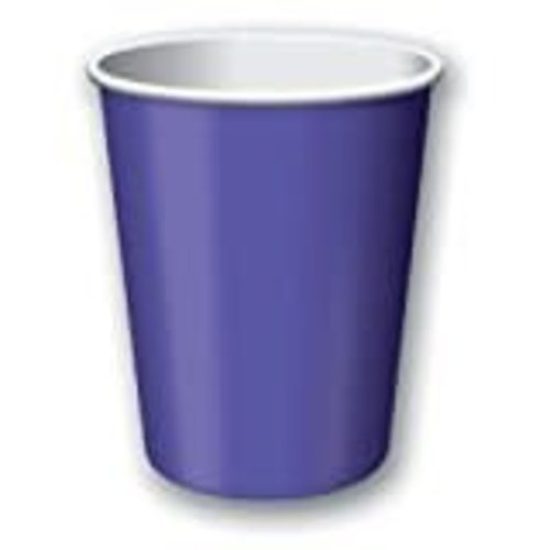 Purple 9oz Hot Cold Cups 24ct