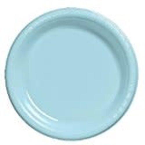 """Pastel Blue 10"""" Plastic Banquet Plates 20ct"""