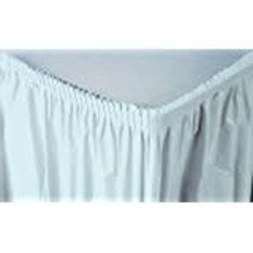 Pastel Blue 14' Plastic Table Skirt
