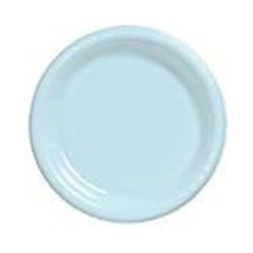 "Pastel Blue 7"" Plastic Dessert Plate 20ct"