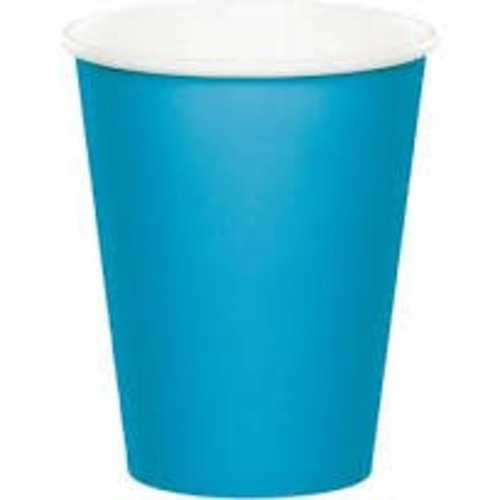 *Turquoise 9oz Hot Cold Cups 24ct