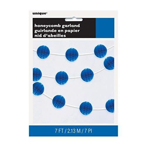 Royal Blue Honeycomb Garland