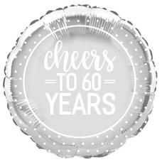 Cheers to 60 Years Mylar Balloon