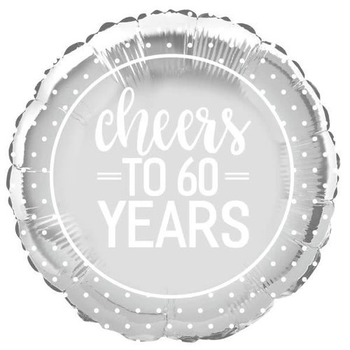 Cheers to 60 Years Mylar Balloon
