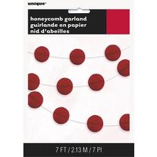 Red Honeycomb Garland