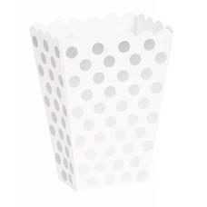Silver Polka Dot Treat Boxes