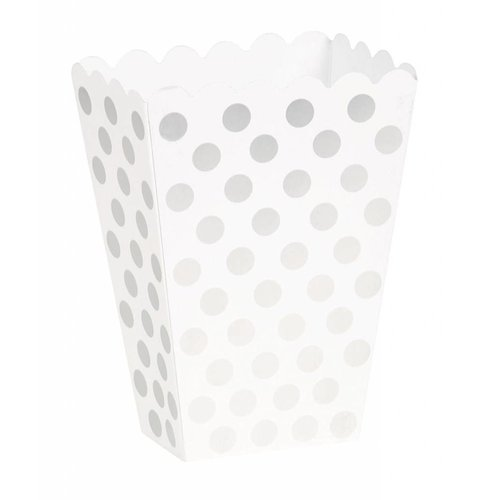 Silver Polka Dot Treat Boxes