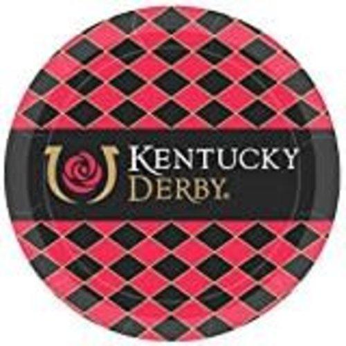 """Kentucky Derby 7"""" Dessert Plates 8ct"""