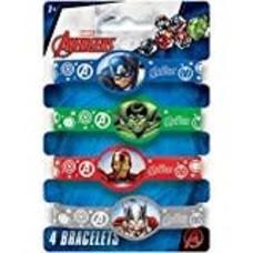 Avengers Rubber Bracelets 4ct