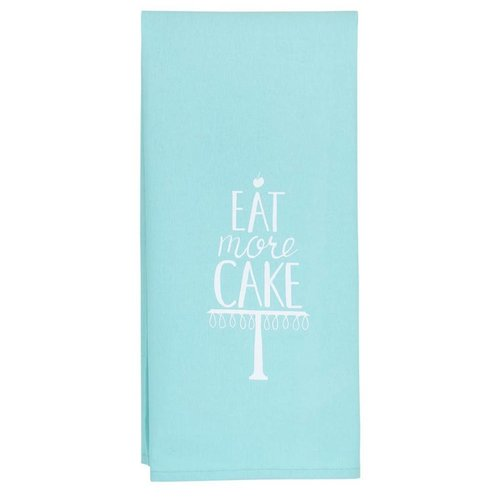 About Face Designs Eat More Cake Tea Towel