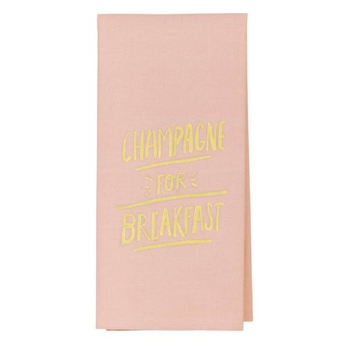 About Face Designs Champagne for Breakfast Tea Towel