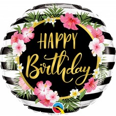 Floral Birthday 18in Mylar