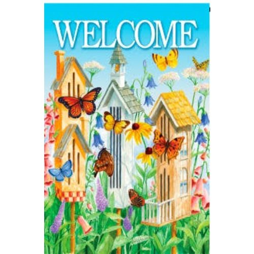 Butterfly Houses Garden Flag