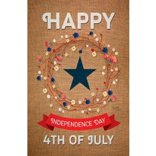 Independence Day July 4th Burlap Garden Flag