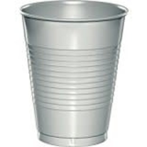 *Shimmering Silver 16oz Plastic Cups 20ct