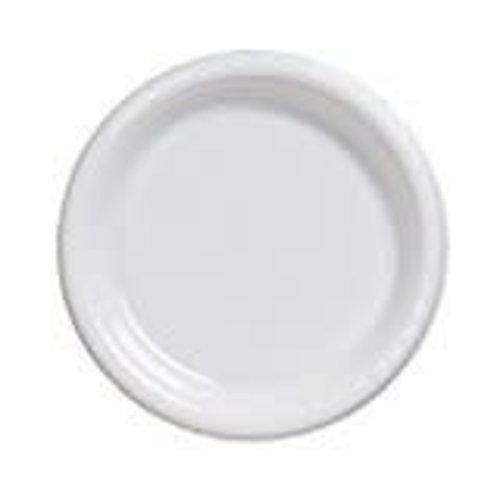 "*White 10"" Plastic Banquet Plate 20ct"