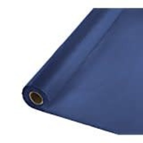 *Navy 100' Roll Plastic Tablecover