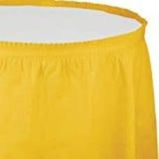*School Bus Yellow 14' Table Skirt