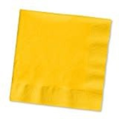 *School Bus Yellow 3ply Lunch Napkin 50ct
