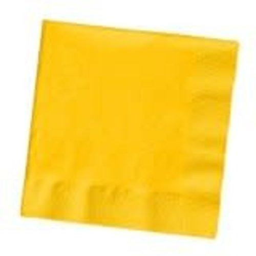 *School Bus Yellow 3ply Beverage Napkins 50ct