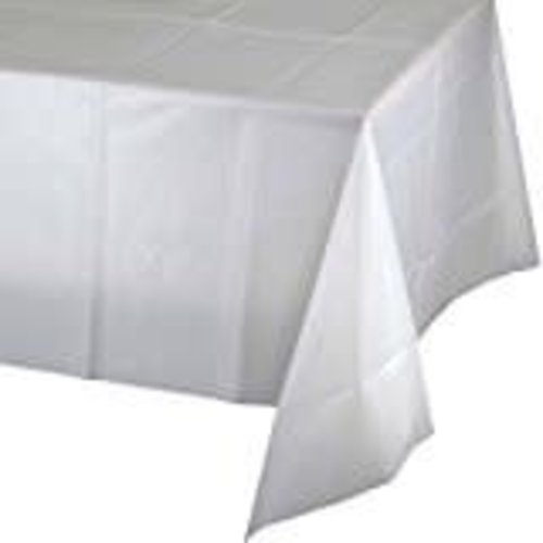 *White 54x108 Rectangle Tablecover