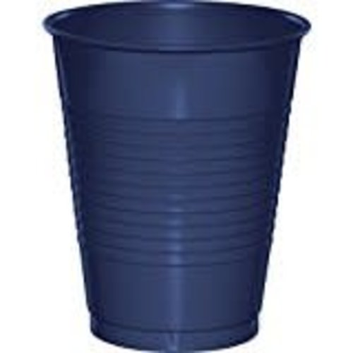 Navy 16oz Plastic Cup 20ct