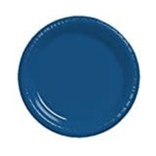 "Navy Blue 10"" Plastic Banquet Plate 20ct"