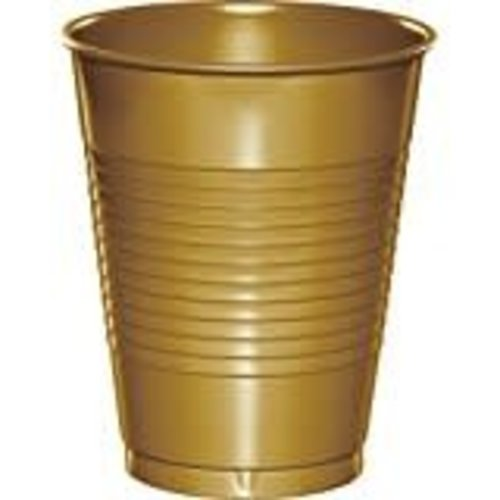 Glittering Gold 16oz Plastic Cup 20ct