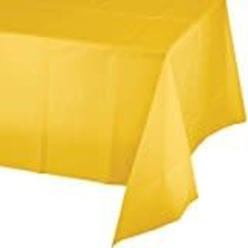 *School Bus Yellow 54x108 Plastic Tablecover