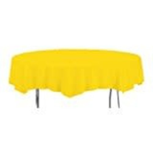 *School Bus Yellow Octy Round Tablecover