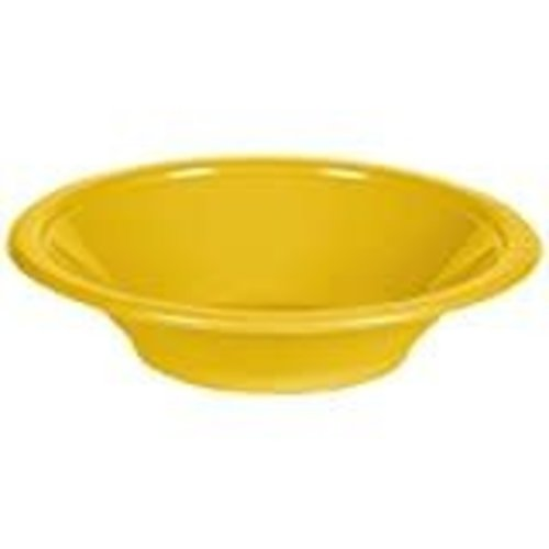 School Bus Yellow 12oz Plastic Bowls 20ct
