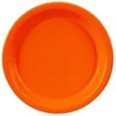 """Sunkissed Orange 7"""" Round Paper Dessert Plate 24ct"""