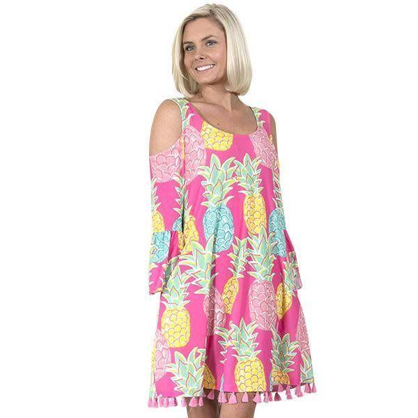 Charleston Cold Shoulder Pineapple Dress