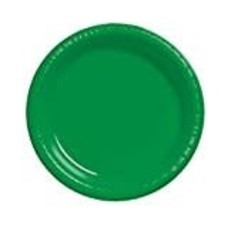 "*Emerald Green 7"" Plastic Dessert Plate 20ct"