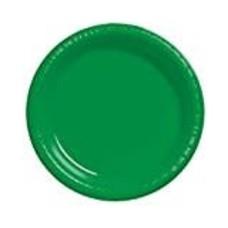 """*Emerald Green 10"""" Plastic Banquet Plates 20ct"""