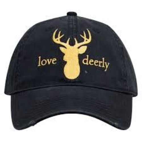 Love Deerly Black and Gold Hat