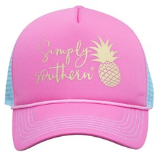 Pineapple Pink and Mint Hat