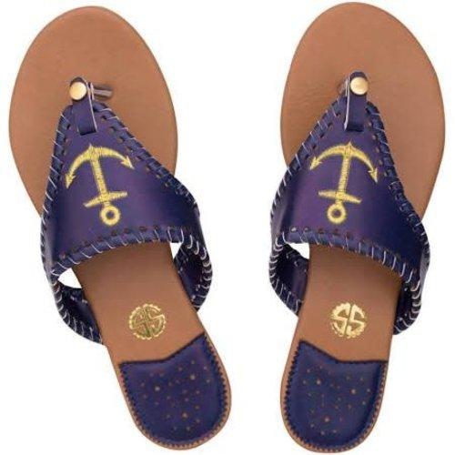 Gold Anchor Sandal