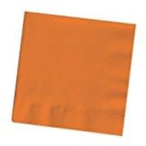 *Sunkissed Orange 3ply Beverage Napkins 50ct
