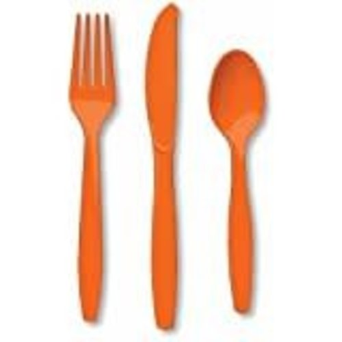 Sunkissed Orange Assorted Cutlery 24ct