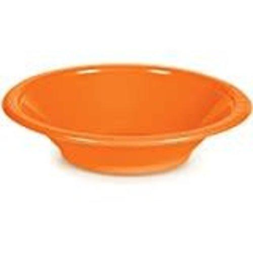 *Sunkissed Orange 12oz Plastic Bowl 20ct