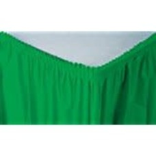*Emerald Green 14' Plastic Table Skirt