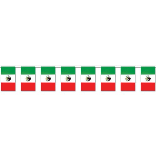 Plastic Mexican Flag Outdoor Banner