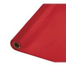 *Classic Red 100' Roll Tablecover