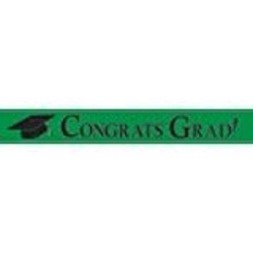 Congrats Grad Banner Green